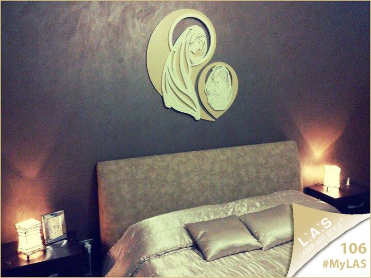 #MyLAS Welcome to Valentina & Alessandro's #home! #bedroom #design #homeinspiration #interiors http://www.laserartstyle.it/home/gallery/my-las/ SACRED WALL SCULPTURES | CODE: SI-266-MB | SIZE: 80x90 cm | COLOUR: camel-sand