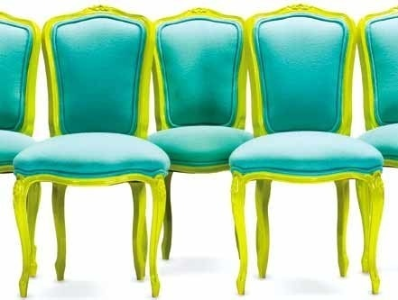 Chartreuse and Teal Chairs