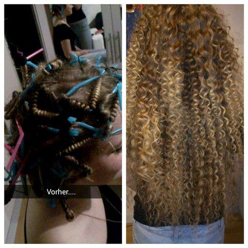 Heatless straw curls
