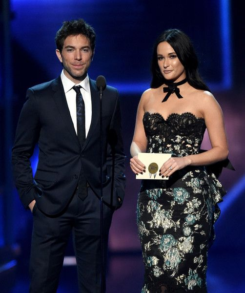 Kacey Musgraves Photos Photos - Radio personality Ty Bentli (L) and recording artist Kacey Musgraves speak during the 52nd Academy of Country Music Awards at T-Mobile Arena on April 2, 2017 in Las Vegas, Nevada. - 52nd Academy of Country Music Awards - Show