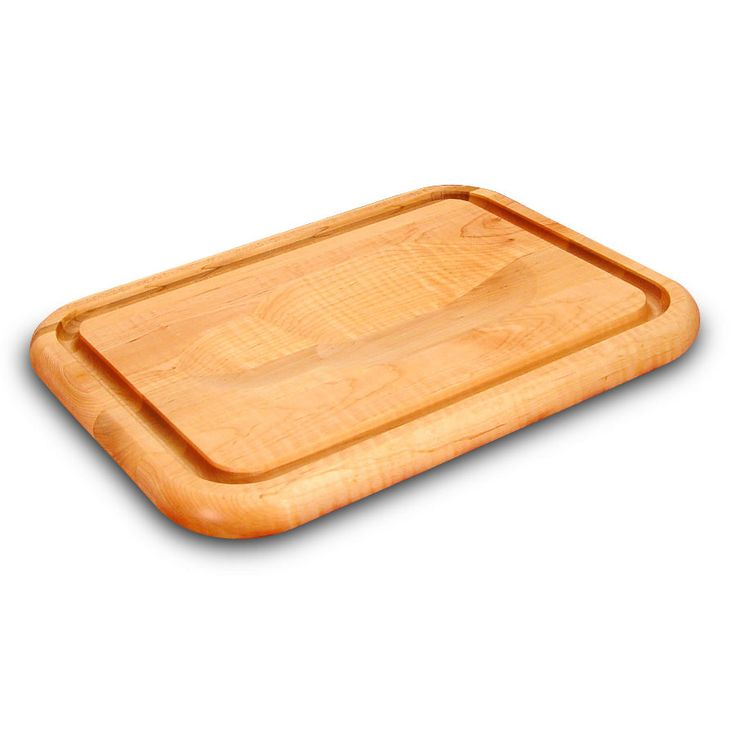 Small Catskill Carving Board - Meat-Holding Wedge & Trench
