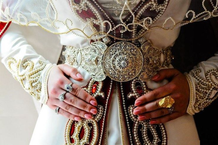 Circassian (Çerkes) bridal dress and jewelry.  Style: early 20th century.