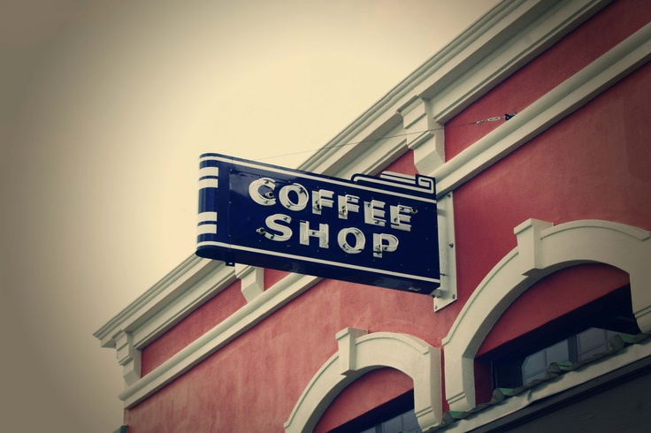 Vintage Coffee Shop Sign Stangos Pinterest Shops Shops And Signs