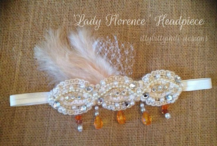 Lady Florence Headpiece www.facebook.com/ittybittyindidesigns