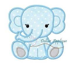 Baby Elephant Applique - 3 Sizes! | What's New | Machine Embroidery Designs | SWAKembroidery.com Dollar Applique