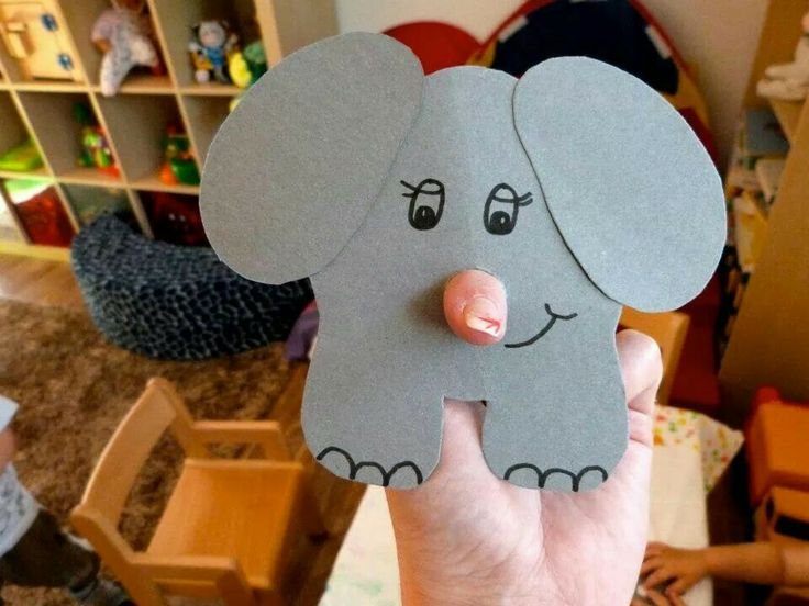 Elefant til finger