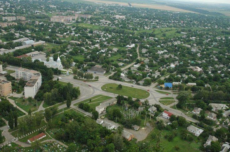 Город Шпола с высоты