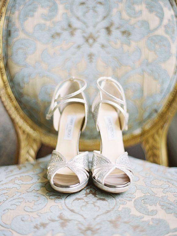 Jimmy Choo wedding shoes | Chateau Chic Inspiration shoot by Kimberly Chau