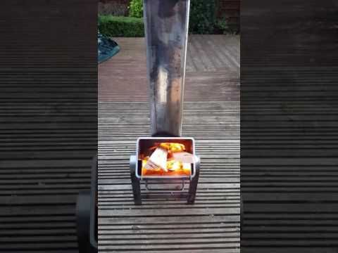 Video of homemade rocket stove in operation