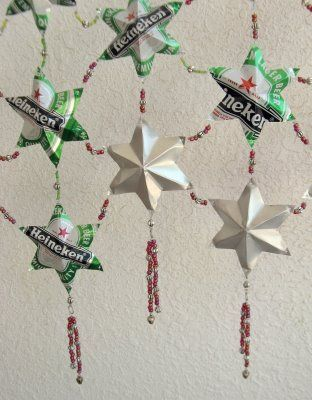 How to Recycle: Soda Can Stars Curtain/Wall Drapery Tutorial