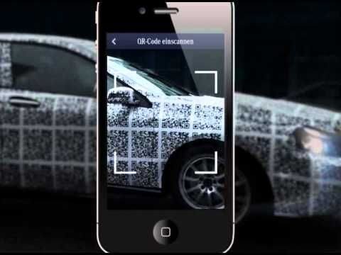 QR code trophy on the new A-class by Mercedes