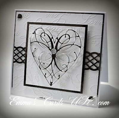 Lovely Card: Memories Boxes, Happy Anniversary, Happy Anniversaries, Black And White, Cards Uk, Emma Cards, Anniversaries Cards, Heart Cards, The Boxes