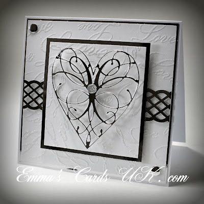 5/16/2012; Emma Goddard at 'Emmas Cards UK' website using silver mirror cs and Memory Box 'La Rue Heart' die