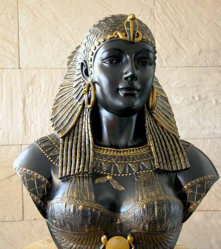 Cleopatra - Queen of Egypt and the last pharaoh. She was 17 or 18 when she became queen. Cleopatra was a shrewd politician who spoke nine languages. During her reign, Egypt became closely aligned with the Roman Empire.