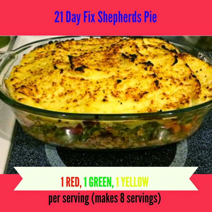 21 Day Fix Shepherds Pie 1 red, 1 green, 1 yellow per serving (Makes 8 Servings)  Liz Imatani: Clean Eating!