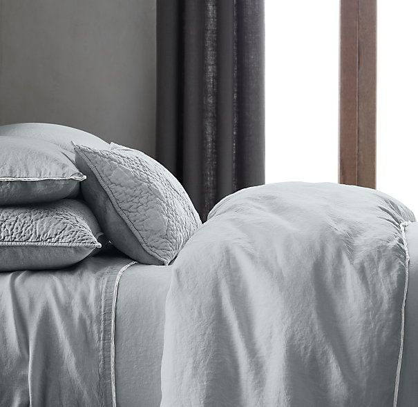 Stonewashed Belgian Linen Tipped Bedding Collection Love