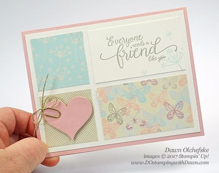 Stampin' Up! Suite Sentiments & Falling in Love DSP card created by Dawn Olchefske for DOstamperSTARS Thursday Challenge #DSC220 #dostamping