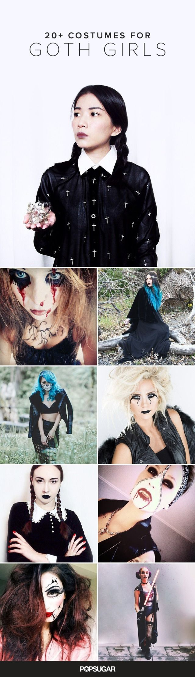 For all the goth girls out there, we have uncovered some Halloween costumes that are equal parts creepy and cool.