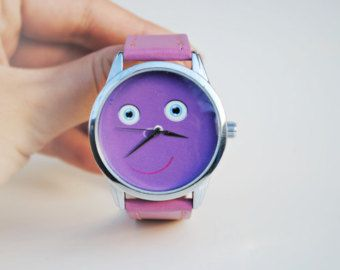 Funny Face montre cadeau drôle mignon montre montre drôle cadeau mignon femme poignet montre drôle anniversaire cadeau petite amie cadeau bracelet de montre en cuir