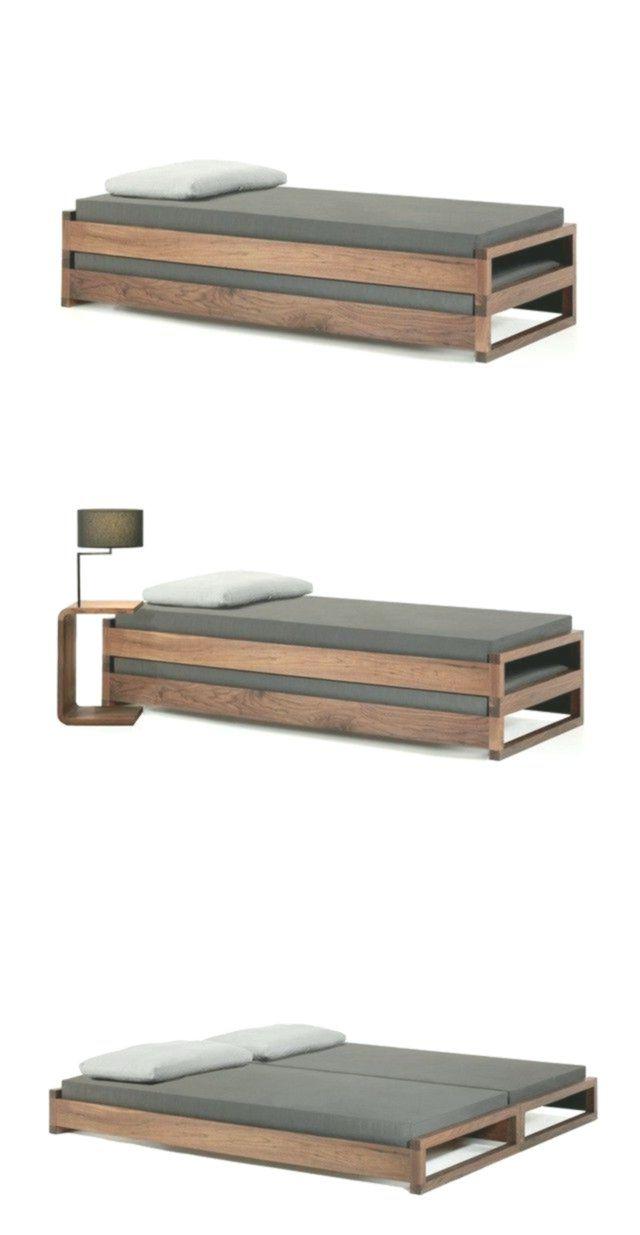 klappbares bett nachttisch cooles design echtholz möbel