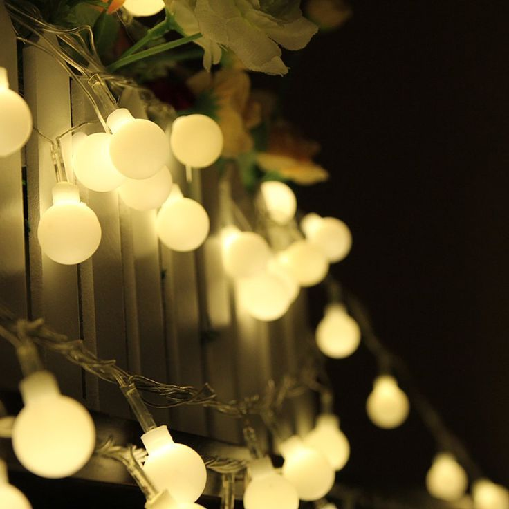 light sensor outdoor lighting Picture - More Detailed Picture about 100 LED Globe String Lights Warm White/White Ball Fairy Light for Party Christmas ... & 107 best LED String Lights images on Pinterest | Led string lights ...