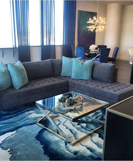 Such a sophisticated living room, styled with our Vapor Sectional.  Available in a 2 or 3 piece option so you can find one that fits your space. Photo via @blytherhodes.