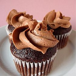 Chocolate Buttercream | Chocolate Cupcakes with Chocolate Frosting | Brown Eyed Baker  I made this a few weeks ago and it came out great. Who knew it was so easy to make frosting?