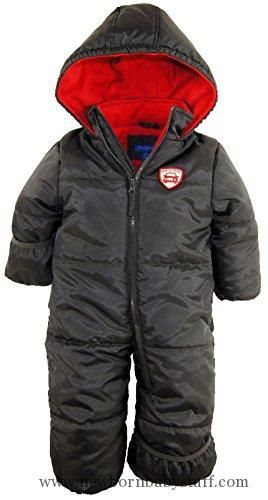 Baby Boy Clothes iXtreme Baby Boys Infant Expedition Car One Piece Snowsuit Puffer Bunting Jacket, Charcoal, 18 Months