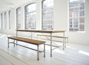 SILO 6 | Steigerbuis meubelen | Steigerbuizen meubel | Steigerbuis Tafel | Steigerbuis Dressoir | Bierbank | Eettafels