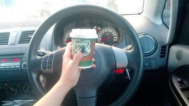 Coffee while driving...