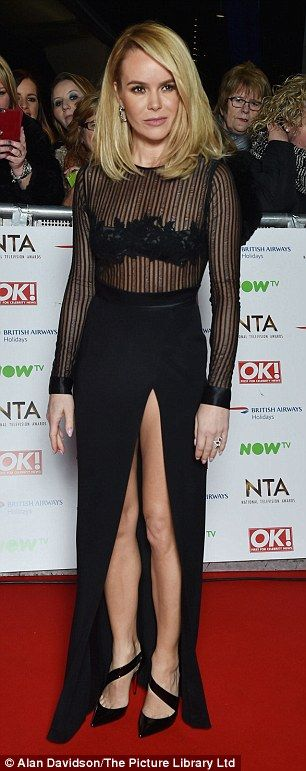 BGT's Amanda Holden and Alesha Dixon rock chic at the National TV Awards | Daily Mail Online
