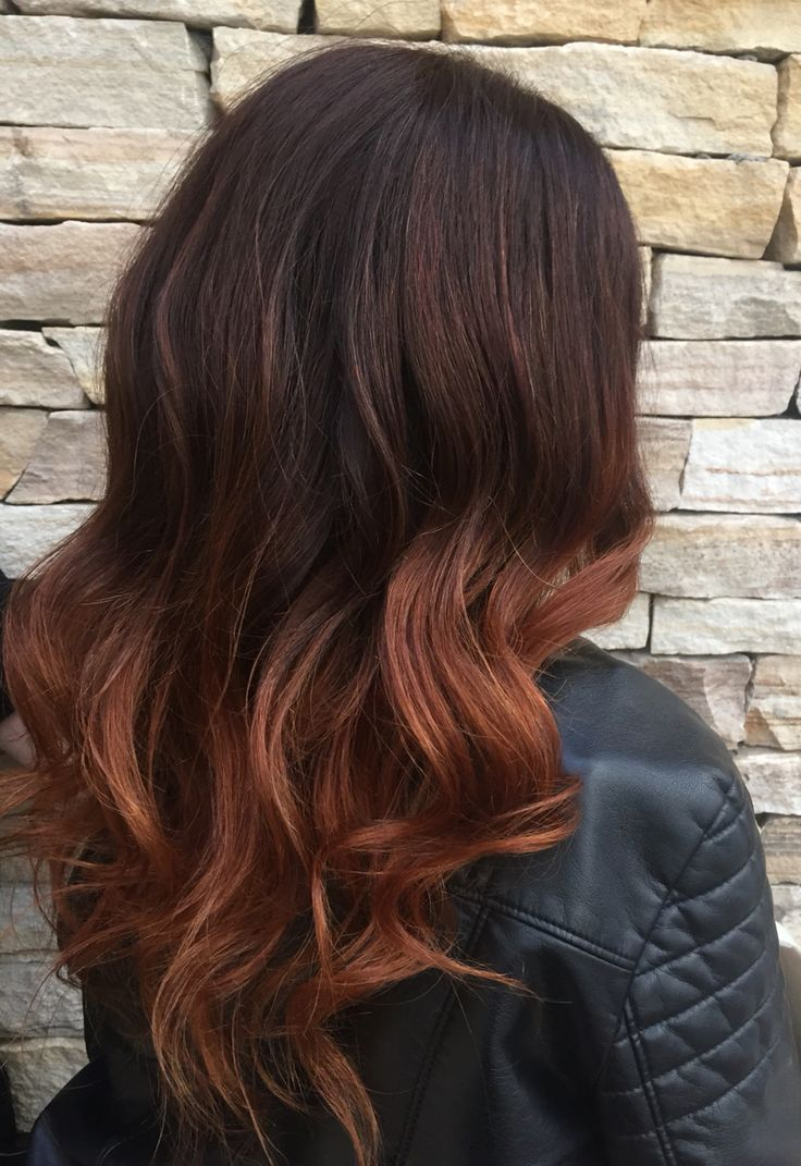 Best 25 Copper Ombre Ideas On Pinterest Red Highlights