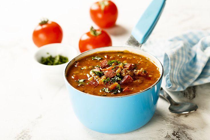 Суп с чечевицей и колбасками и про хранение посуды - Home is in the kitchen