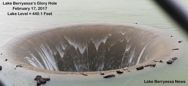 The unusual spillway is in use for the first time in 10 years.