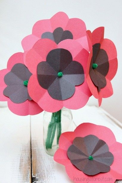 Easy Paper Poppy Flower Tutorial ~ Remembrance Day Craft