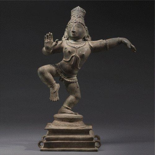 Dancing Balakrishna,copper alloy,S India,Tamil Nadu,Chola Dynasty,Sotheby's