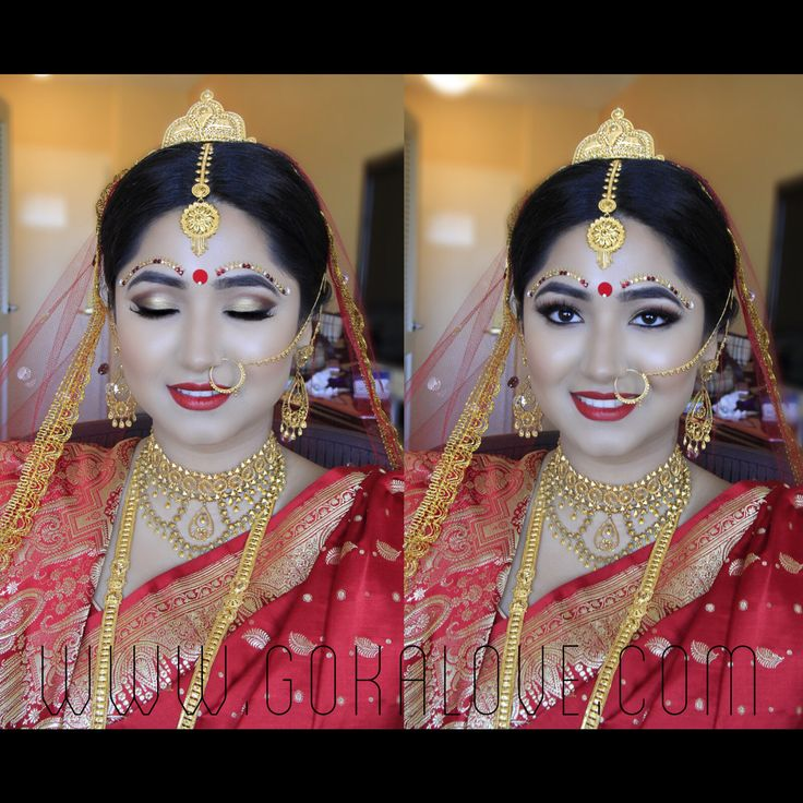 Bengali Bride's Makeup and Hair! :) Indian Wedding, Makeup Artist, Hairstylist, Massachusetts, Connecticut, New York