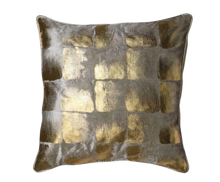 Подушка SHADOW - ткань - золотой - Д50хШ50 | Westwing Интерьер & Дизайн