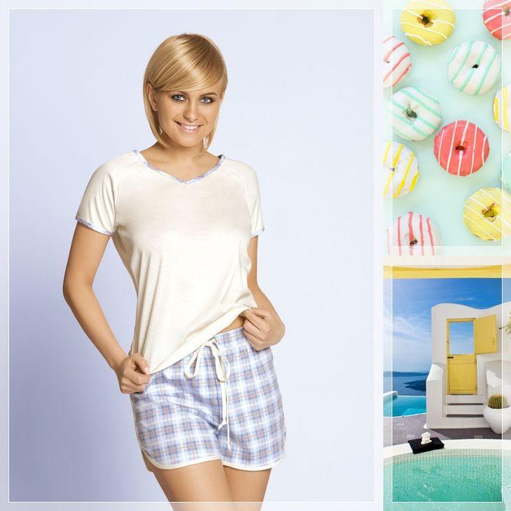 ARIZONA #unikat #underwear #lingerie #pijama #nightwear #pastel #blue #yellow…