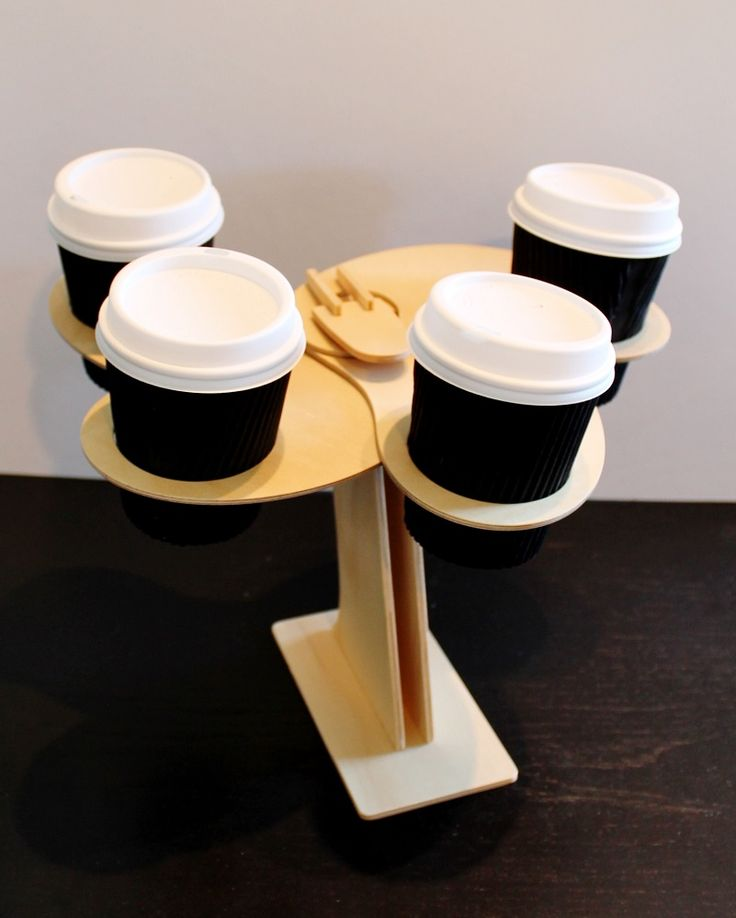 Coffee thumb store display. Made from Certified Australian Hoop pine. By Mutating Creatures