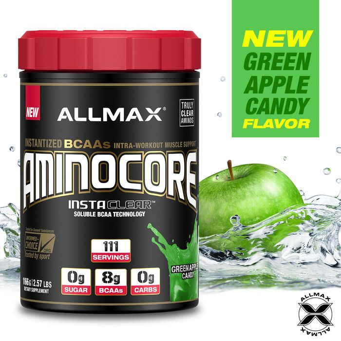 #AMINOCORE has yet another punch of sweetness!  Those of you who are familiar with Jolly Ranchers, Pop Rocks and Air Heads Candy in Green Apple flavor, then meet your match with #AMINOCORE Green Apple Candy!  The great thing about AMINOCORE is when can´t get a sufficient level of high-quality protein, or are in a caloric deficit - AMINOCORE is your best friend to feed your muscles directly to retain muscle and increase your body's ability to build hard lean muscle mass.