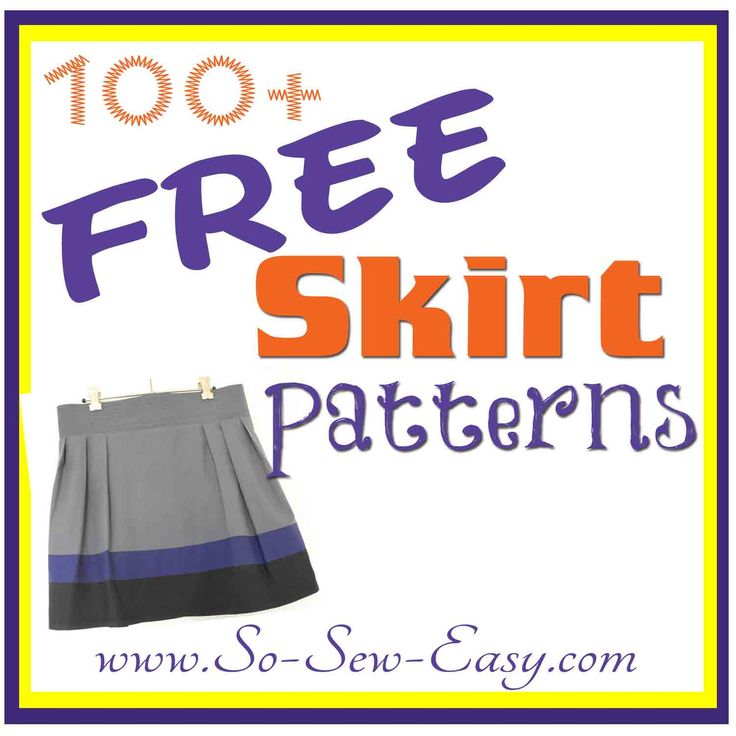 BIG roundup of 100+ free skirt sewing patterns from across this site and the internet. Find the best, the easiest and the most stylish free skirt patterns.