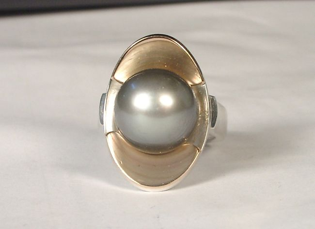 Tahitian Black Pearl Ring.