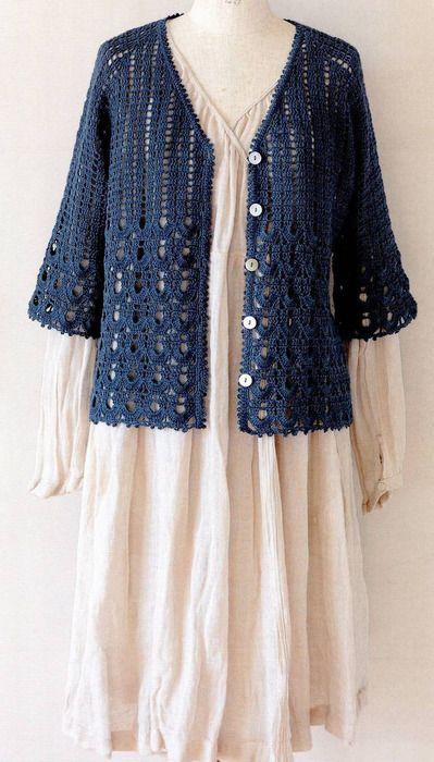 Russian free pattern+graphs Easy to follow pattern crocheted jacket
