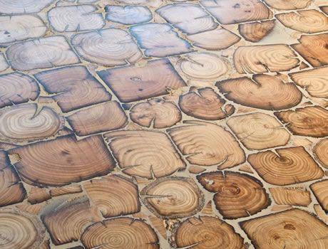 Reclaimed End Grain Flooring from Element 7