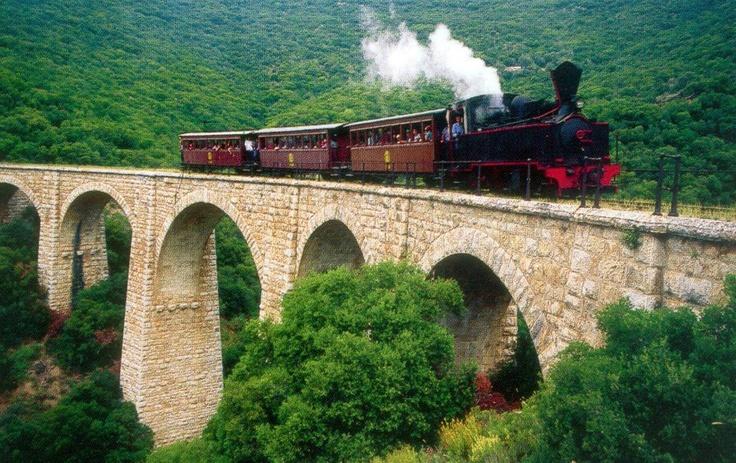 famous train moutzouris in Pilion Greece http://www.house2book.com/