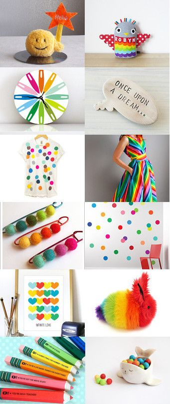 A colorful day! by Ana Jerónimo on Etsy--Pinned+with+TreasuryPin.com