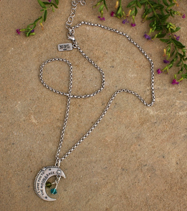 """""""To the moon & back"""" necklace by nelle & lizzy. A definite mother's day gift!"""
