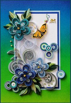 Violets Quilled Card (54 pieces)