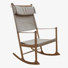 Vintage Scandinavian Rocking Chair